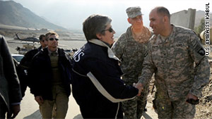Homeland Security chief Janet Napolitano will spend New Year's Eve in Afghanistan with U.S. troops.