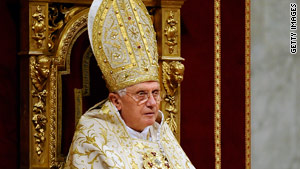 Pope Benedict XVI delivers his annual World Day of Peace message Friday at the Vatican.