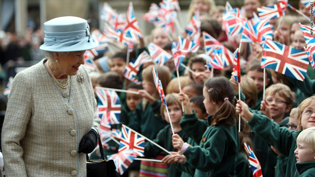 Britain's Queen Elizabeth II is head of state of 16 U.N. member states.