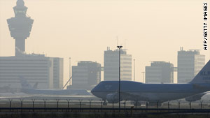 The 41-year-old Swedish man was arrested at Amsterdam's Schiphol airport.