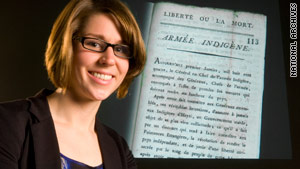 Student Julia Gaffield found the pamphlet while researching Haiti's early independence.