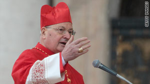 Cardinal Angelo Sodano speaks at the Vatican Easter Mass in St. Peter's Square on Sunday.
