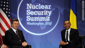 Ukrainian President Viktor Yanukovich joined President Obama for this week's nuclear summit.