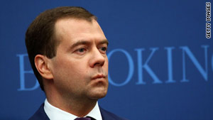 "Russian President Dmitry Medvedev said Tuesday that nuclear terrorism ""is a threat to all of us."""