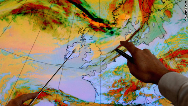 Meteorologists say the dust cloud will continue to blanket northern Europe.