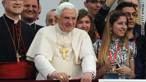 Pope Benedict XVI during a visit to Malta on Sunday, April 18, 2010.