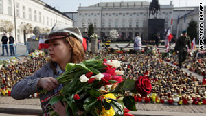 The death of Poland's president prompted nationwide mourning.