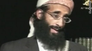 A still from the video showing Anwar al-Awlaki.