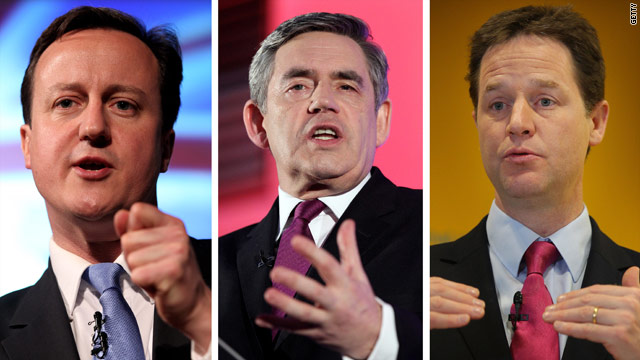 David Cameron, Gordon Brown and Nick Clegg are all tussling for power following the uncertain outcome of the UK election.