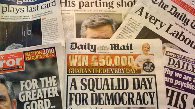 British newspapers respond to Gordon Brown's offer to stand down as Labour leader.