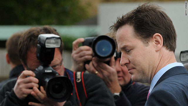 Liberal Democrat leader Nick Clegg is central to the formation of a coalition government.
