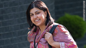 Sayeeda Warsi trained lawyer from Dewsbury in northeast England.