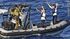 Dutch naval forces conduct anti-piracy drills in the Indian Ocean last year.
