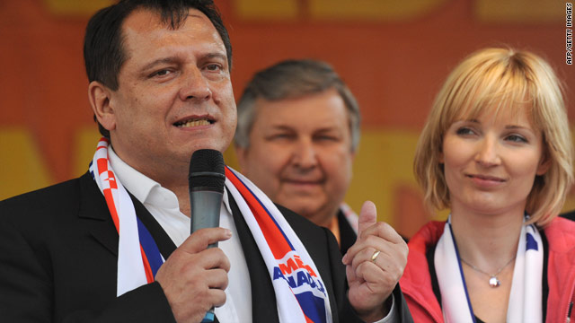 Jiri Paroubek's left-of-center Social Democrats are favorites to win power in Prague.
