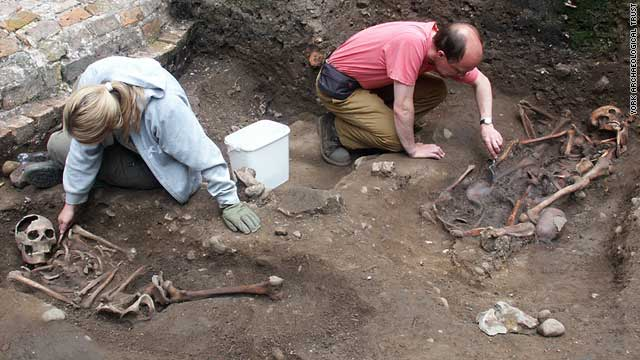 The project was led by Kurt Hunter-Mann (right) from York Archaeological Trust.