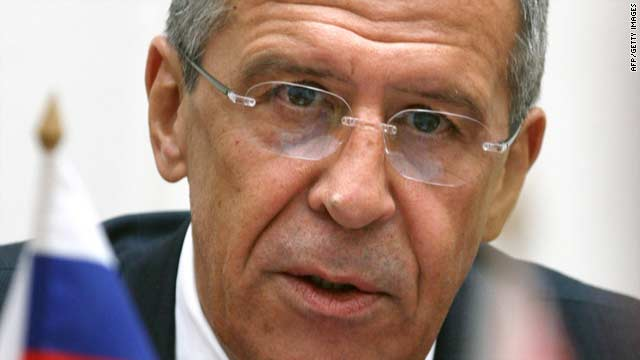 Russian Foreign Minister Sergei Lavrov speaks during a meeting with Belarus counterpart Sergey Martynov in Minsk Tuesday.