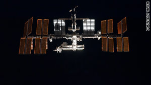 The Progress cargo vessel has docked with the International Space Station, pictured here.