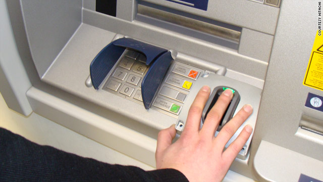 "The  ATM runs on the latest in ""finger vein"" technology, with an infrared light detecting a unique pattern of micro-veins."
