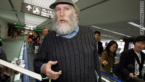 Bobby Fischer talks to reporters in Japan in this photo taken in 2005.