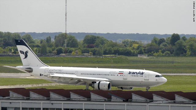 A file photo of an Iran Air plane at Paris-Orly airport dated May 18, 2010.
