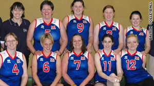 Martine Wright, in ther number 7 shirt,  is aiming for the British Paralympic volleyball team in 2012.