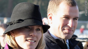 Peter Phillips, the 11th in line to the throne, with his Canadian-born wife, Autumn.