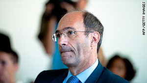 Eric Woerth denies allegations he handled illegal payments to French President Nicolas Sarkozy.