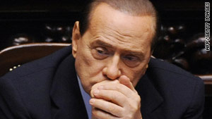 Silvio Berlusconi said he had no choice but to expel Gianfranco Fini because of his dissident stance.