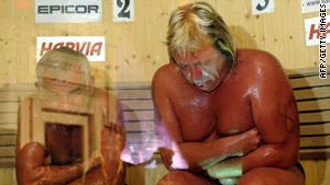 Vladimir Ladyzhenskiy, left, and Timo Kaukonen during Saturday's final.