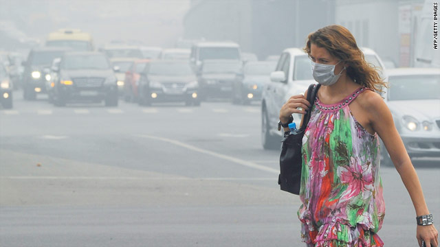 Russia's meteorological service says levels of air pollution will remain high in and around Moscow in the coming days.