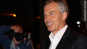 "Tony Blair's book, ""A Journey,"" describes his time in office, including his decision to go to war in Iraq."