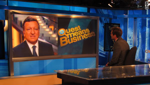 Barroso outlines his jobs list plan on CNN International's 'Quest means Businesss.'