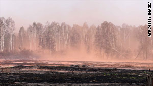Wildfires have caused havoc across large swathes of Russia during the hottest summer on record.