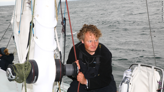 "Steve White will need all his strength to battle the wind and currents as he attempts to sail around the globe in the ""wrong"" direction."