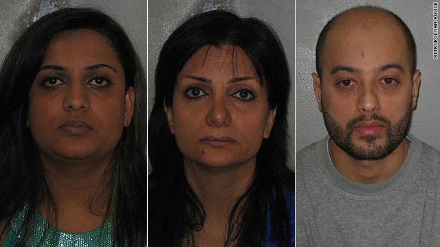 Fatima Hagnegat, Marohkh Jamali and Rasoul Gholampour all pleaded guilty to the trafficking charges.