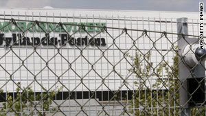 A double fence and security cameras protect the offices of Danish newspaper Jyllands-Posten.