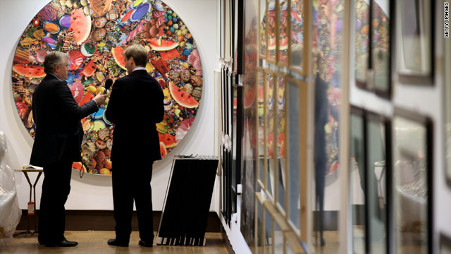 Art belonging to collapsed banking group Lehman Brothers will be sold in London on Wednesday, September 29.