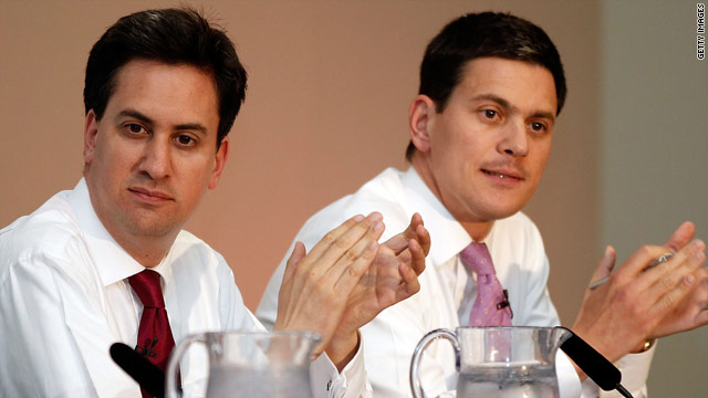 Ed Miliband, left, beat his brother David in the leadership battle.