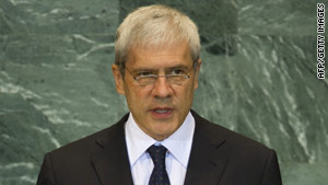 "Serbian President Boris Tadic says: ""Soon the two parties will be talking to each other."""