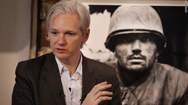 WikiLeaks founder Julian Assange during a press conference. WikiLeaks spokesman Daniel Domscheit-Berg is stepping down.