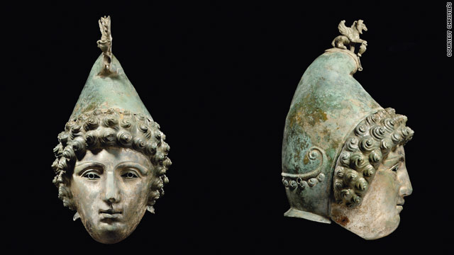 The Roman bronze helmet up for auction at Christie's dates from the late 1st-2nd century A.D.