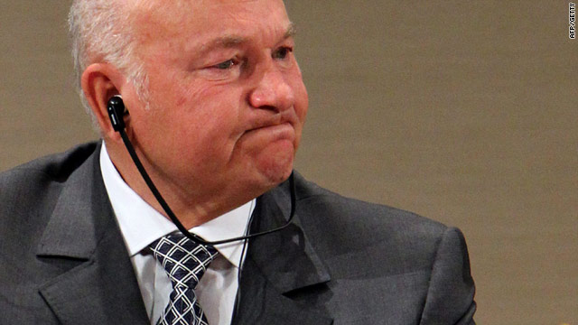 The former Moscow mayor Yuri Luzhkov - photographed on 27 September - told CNN that democracy was in danger in Russia.
