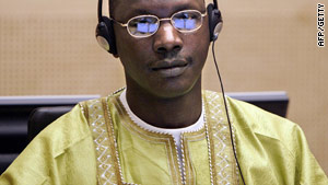 Congolese militia leader Thomas Lubanga Dyilo at the International Court of Justice in The Hague in 2007.