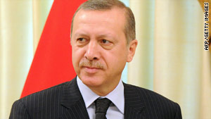 Recep Tayyip Erdogan is angry with Israel over the deadly commando raid on a Gaza-bound aid ship in May.