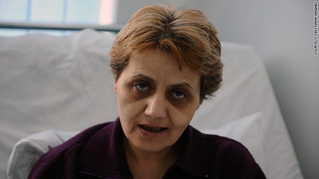Cristiana Anghel says her protest will end when doctors say they fear she will die.