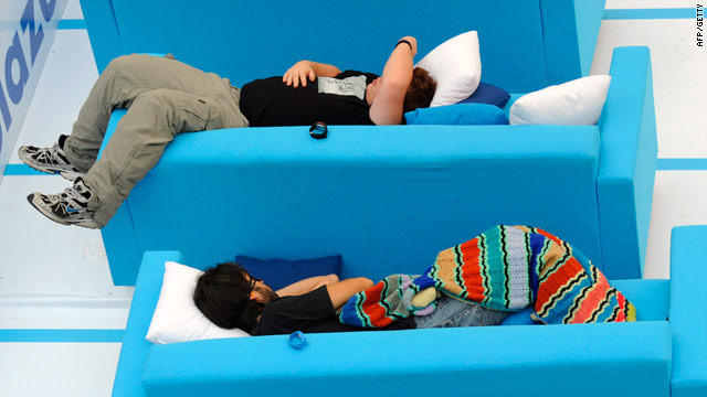 Snoozers take part in the first Siesta Championship on October 21  in a suburban shopping center in Madrid, Spain.