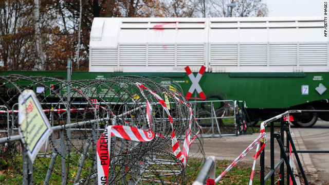The train carrying nuclear waste left France on Friday, headed for Gorleben in northeast Germany.