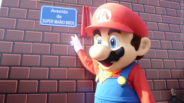 'Super Mario' street is unveiled: Residents of the new development voted in an online poll to name their new streets.