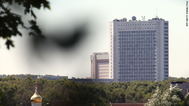 The Russian Foreign Intelligence Service (SVR) headquarters outside Moscow as seen on June 29.