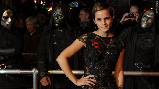 "Harry Potter star Emma Watson at Thursday's World Premiere of ""Harry Potter And The Deathly Hallows"" in London."